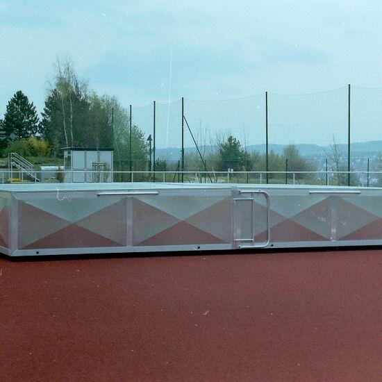 Verrijdbare afdekking voor hoogspringkussen 400x250x50 cm