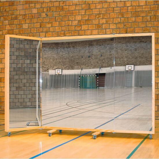 Verrolbare Spiegelwand 300x180 cm Zonder beschermfolie tegen splinters