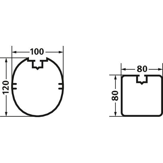 Zaalvoetbaldoel 5x2 m Vierkantsprofiel 80x80 mm