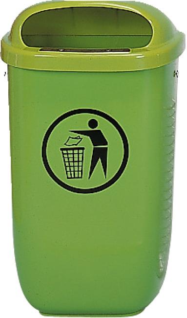 Afvalbak volgens DIN Standaard, Groen