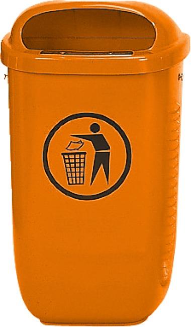 Afvalbak volgens DIN Standaard, Oranje