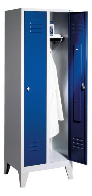 Garderobekast met 150 mm hoge poten 1850x610x500 mm /2 vakken, 30 cm