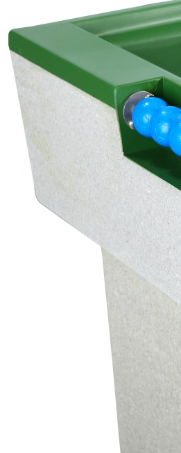 Kickertafel van polymeerbeton Groen