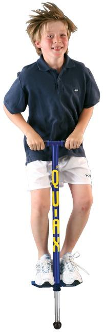 Qu-Ax® Pogo-stick Blauw, L: 98 cm, tot 50 kg