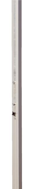 Sport-Thieme volleybal middenpaal 80x80 mm Met spindelspansysteem