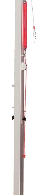 Sport-Thieme volleybal middenpaal 80x80 mm Met katrolsysteem