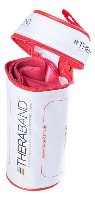 TheraBand™ 250 cm in opbergtasje met ritssluiting Rood, medium