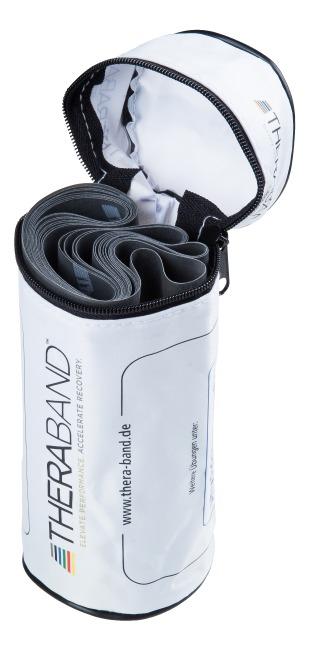 TheraBand 250 cm in opbergtasje met ritssluiting Zwart, super sterk