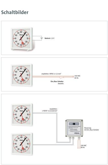 Trainingsklok met minuten en secondenwijzers Batterijen 2x1,5 V, levering incl. batterijen