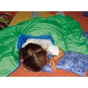 Enste® zware deken/gewichtsdeken 180x90 cm / groen-blauw, Buitenhoes Suratec