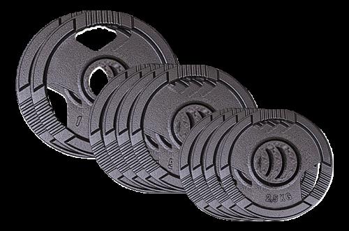 Sport-Thieme gietijzeren Wedstrijdgewichtsschijvenset, 50 kg