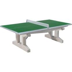 """Sport-Thieme® tafeltennistafel """"Premium"""" van polymeerbeton Korte poot, vrijstaand, Groen"""