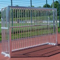 Sport-Thieme® Volledig Gelast Trapvelddoel 300x200x60 cm met Basketbal-bord, Vierkant profiel 80x80 mm