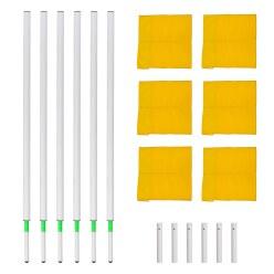 Sport-Thieme® Veiligheidsgrenspalen-Set Vlag rood-wit