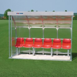 Sport-Thieme® Dug-Out voor 6 personen