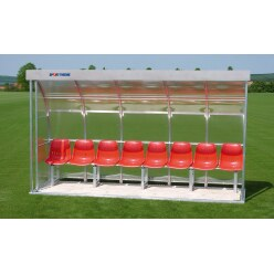 Sport-Thieme® Dug-Out voor 8 personen