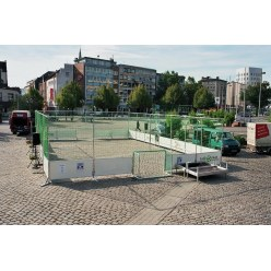 Mobiele Streetsoccer-Court