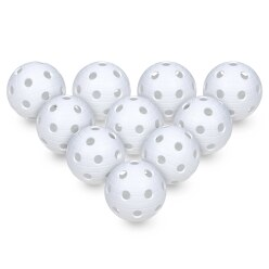 Set van 10 Floorball-Ballen Wit