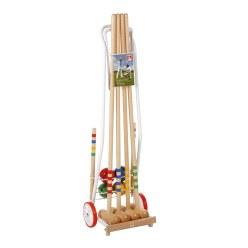 Croquet van hout met wagen