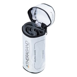 TheraBand™ 250 cm in opbergtasje met ritssluiting Geel, licht