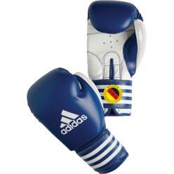 De Adidas® wedstrijd bokshandschoenen Ultima Rigid Cuff Blauw, 12 oz.