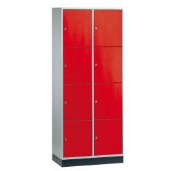 """Sluitvakkast voor grote ruimten """"S 4000 Intro"""" (4 vakken boven elkaar) Lichtgrijs (RAL 7035), 195x82x49 cm/ 8 vakken"""
