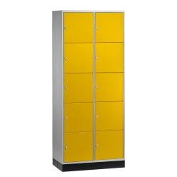 """Sluitvakkast """"S 4000 Intro"""" (5 vakken boven elkaar) Lichtgrijs (RAL 7035), 195x62x49cm/ 10 vakken"""