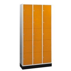 """Sluitvakkast voor grote ruimten """"S 4000 Intro"""" (5 vakken boven elkaar) Lichtgrijs (RAL 7035), 195x85x49 cm/ 10 vakken"""