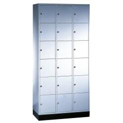 """Sluitvakkast """"S 4000 Intro"""" (6 vakken boven elkaar) Lichtgrijs (RAL 7035), 195x62x49 cm/ 12 vakken"""