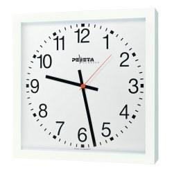 Peweta® wandklok voor grote ruimten 40x40 cm, netbedrijf Standaard, Cijferblad Arabische getallen