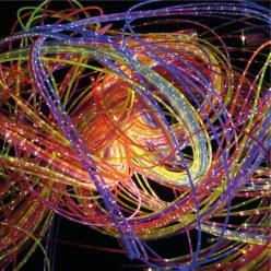 Kleurrijke fiber optic strengen