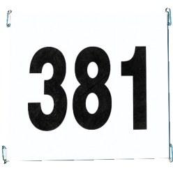 Startnummerset van scheurvast papier