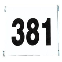 Startnummersets van Tyvek met reclameopdruk