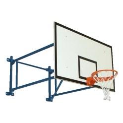 Sport-Thieme basketbalmuurconstructie, vaste uitvoering