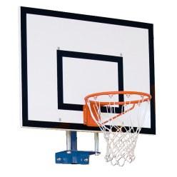 Sport-Thieme basketbal-muurconstructie vaste uitvoering