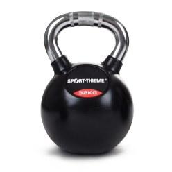 Sport-Thieme kettlebell met rubber bekleed en met chroomhandgreep