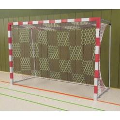 Sport-Thieme® Zaalhandbaldoel 3x2 m, vrijstaand Zwart-zilver, Gelaste hoekverbindingen