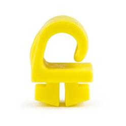 Veiligheids-Nethouders uit kunststof Diefstalveilig, het net ligt in de profielgroef, geel, 19x19x11 mm