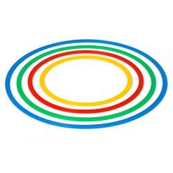Set Platte hoepels