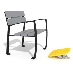 Vitalis-Park enkele zitplaats met voetkipper